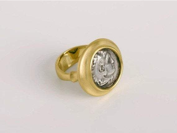 Great Alexander Coin Ring