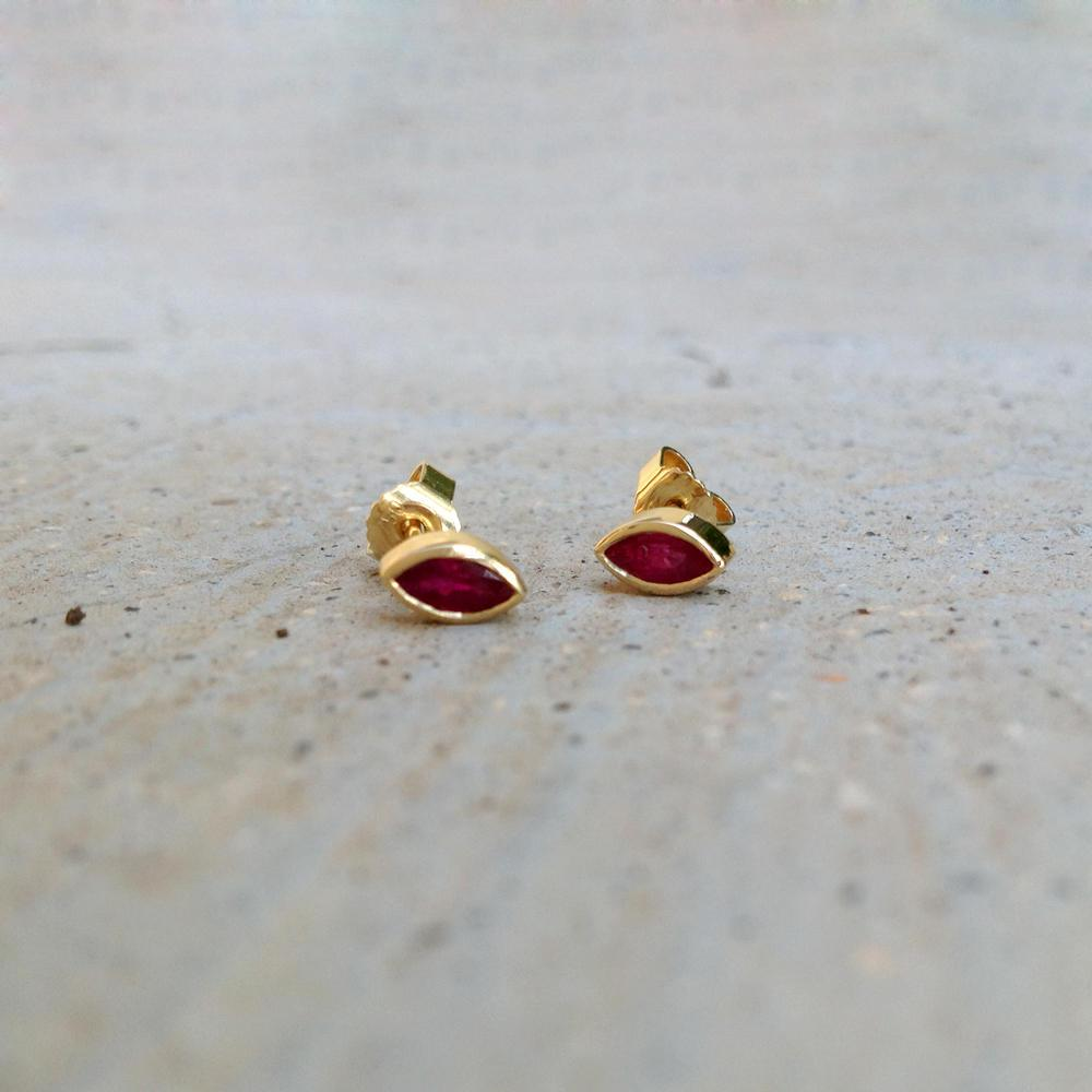 Red Marquises Earrings