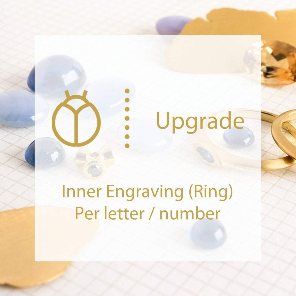 Personal Inner Engraving for Rings - Per Letter ⦁ Per number, Initials Engraving upgrade ⦁ Personalized Jewelry ⦁ custom inner engraving