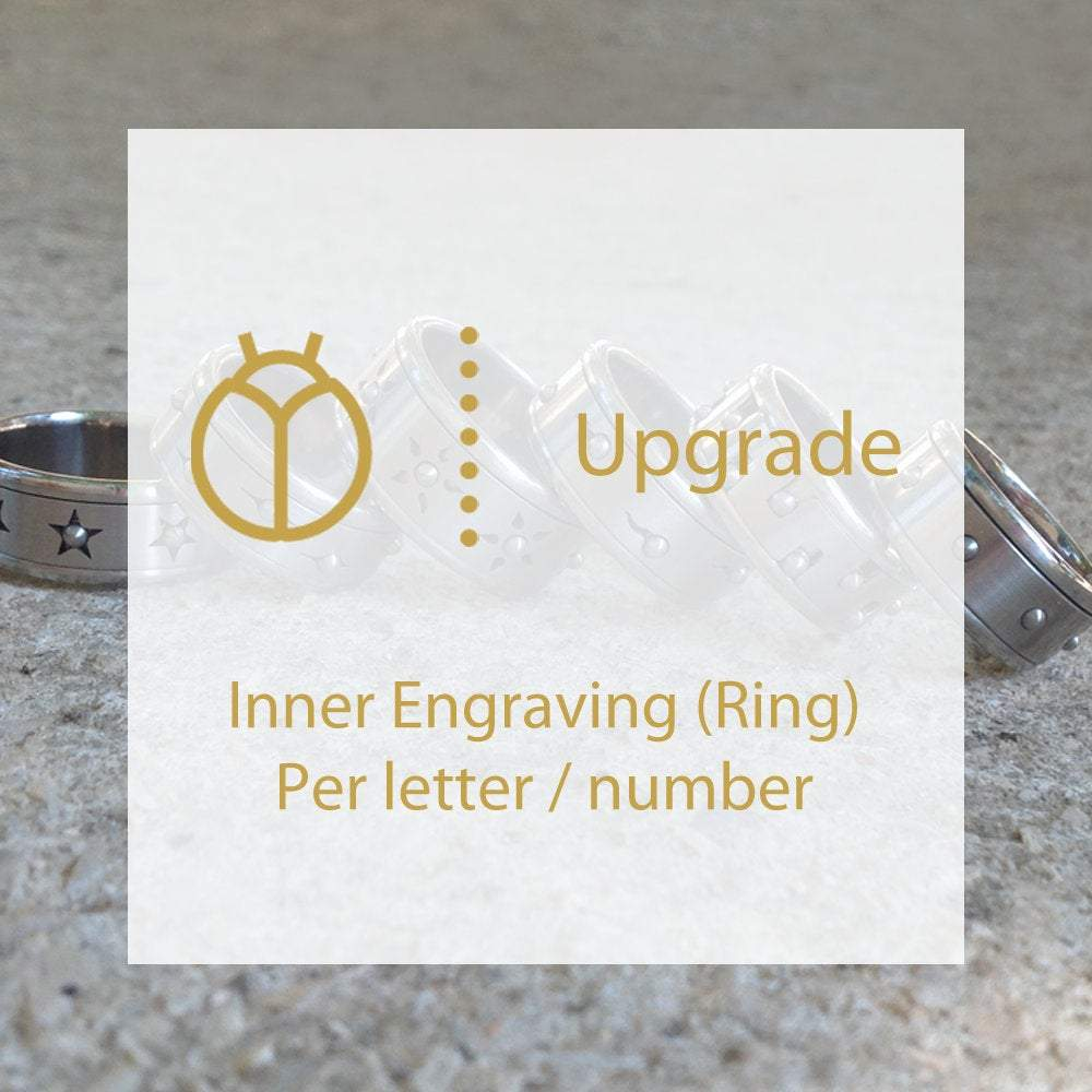 Personal Inner Engraving for Rings, Per Letter, Per number, Initials Engraving upgrade, Personalized Jewelry, custom inner engraving, hand
