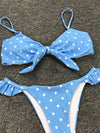 Polka-Dot Retro Knotted Bikini Swimsuit