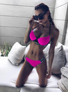 Sports Bandage Split Bikini Swimsuit
