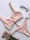 Ribbed Knot Bikinis Swimwear