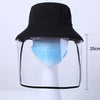 Fisherman Protective Hat Baseball Cap Transparent Protection Mask