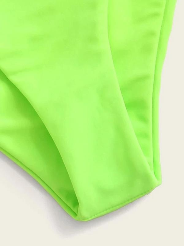 Solid Color Low Waisted Bikini Bottom