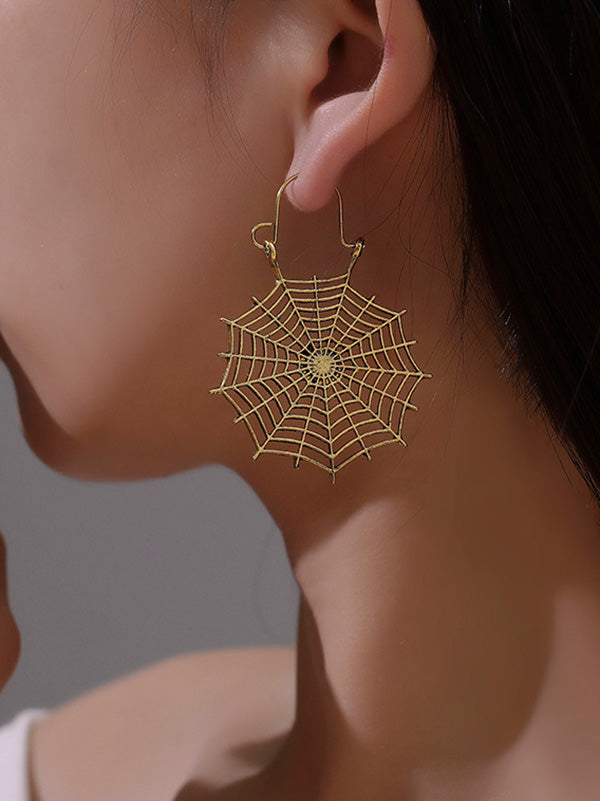 Vintage Openwork Spider Web Earrings