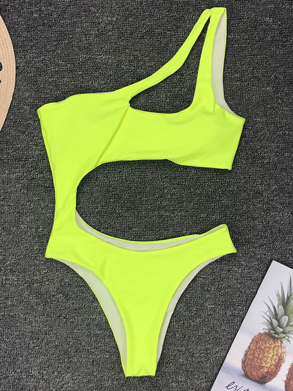 Neon Hollow One Piece Swimsuit
