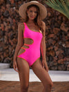 Asymmetric Hollow One-Piece Swimwear