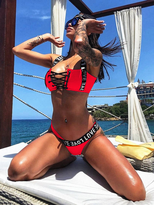 Lace-Up Bikinis Swimwear