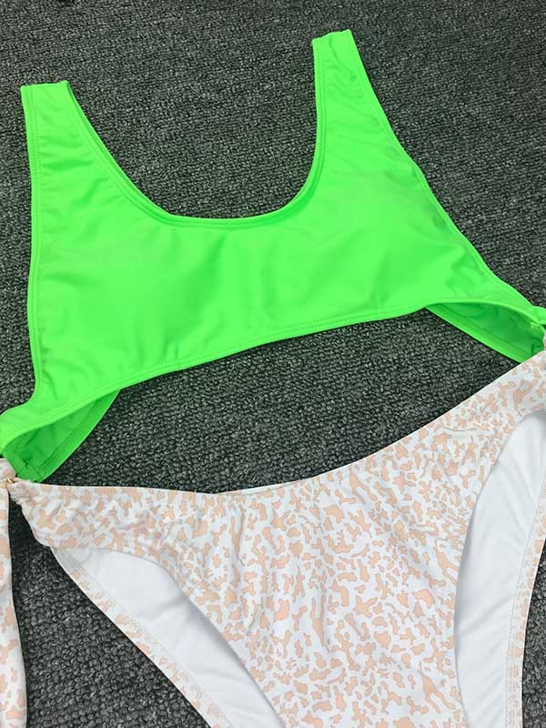 Neon Contrast One Piece Swimsuit