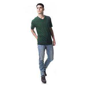 BÁSICA REGULAR FIT CUELLO V - VERDE OLIVO
