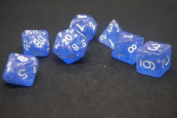 Blue Star Dice Set.