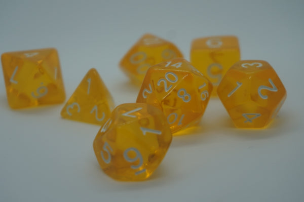 Clearly Yellow Dice Set.