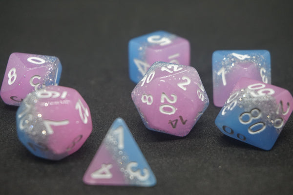 Trans Pride Dice Set.