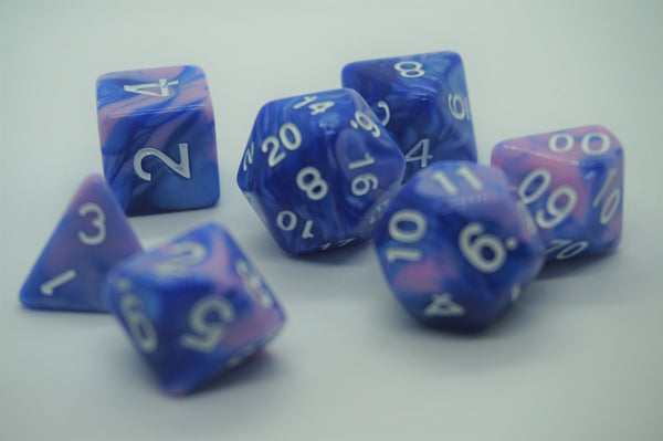 Cotton Candy Dice Set.