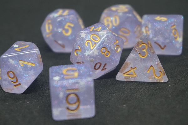 Purple Star Dice Set.