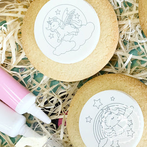 colouring in unicorn biscuit activity kits