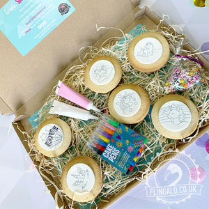 unicorn biscuit letterbox decorating kit