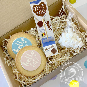 baby shower hot chocolate gift box