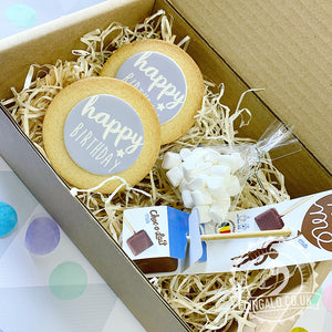 birthday hot chocolate biscuit treat box
