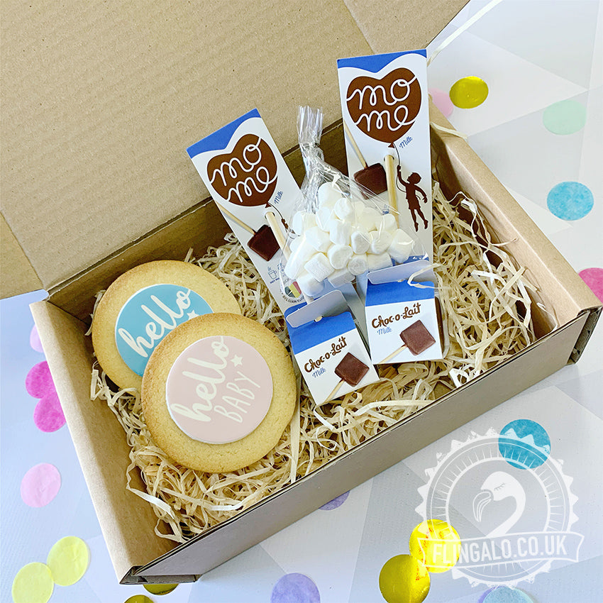 baby shower hot chocolate gift box uk delivery