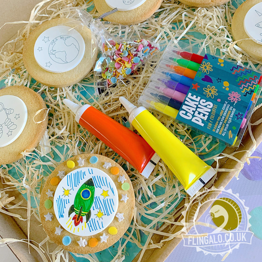 space decorating biscuit activity gift