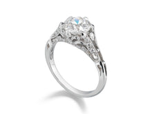 Load image into Gallery viewer, 31597 European Ideal Cut Diamond Fountain Ring
