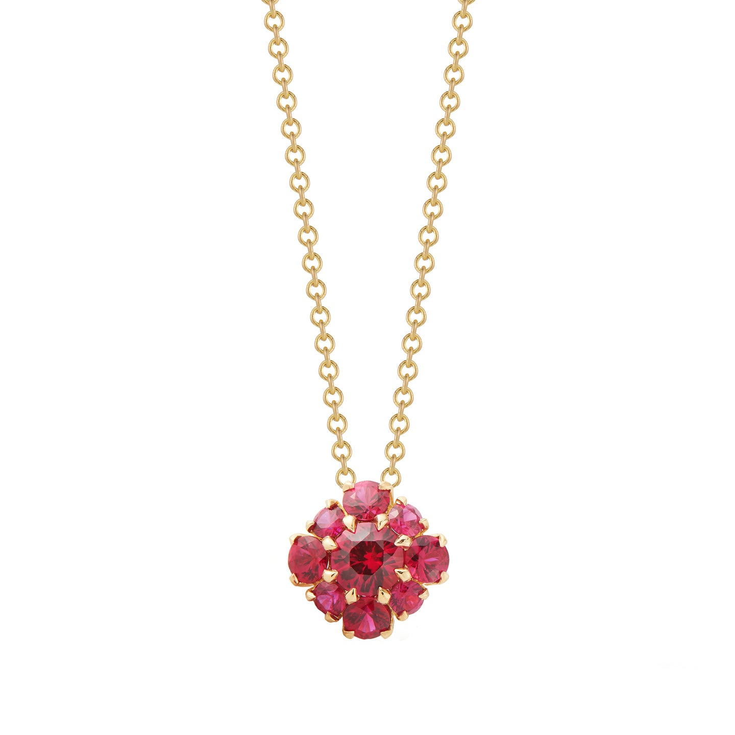 33359 Ruby Berry Cluster Pendant