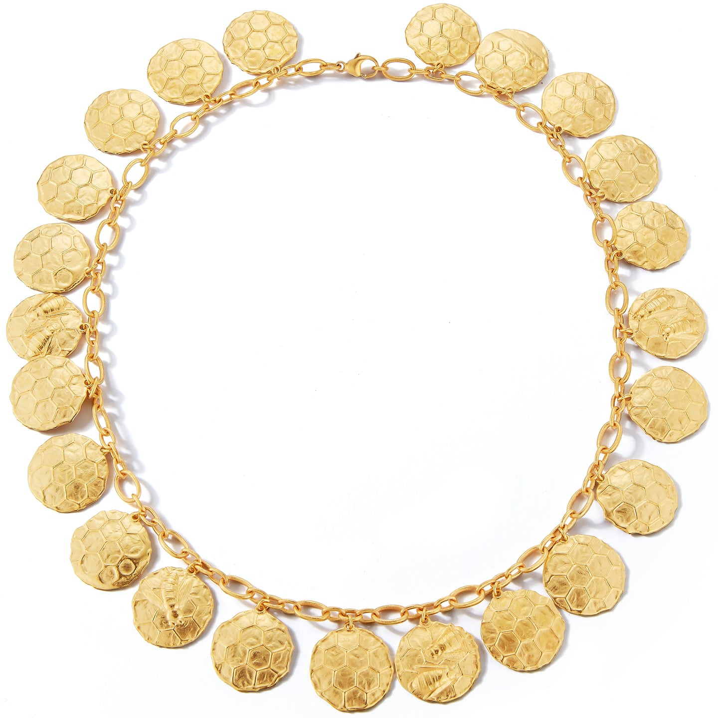 33521 Single Row Honey Bee Swarm Necklace