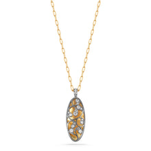 Load image into Gallery viewer, 8859 Pierced Flora Noir Diamond Pendant