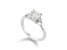 Load image into Gallery viewer, 9577 Asscher Cut Classic Flora Diamond Ring