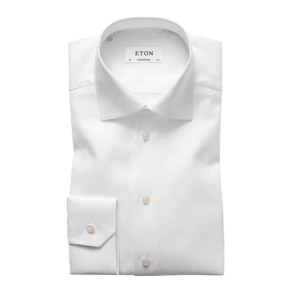 Textured Twill Dress Shirt