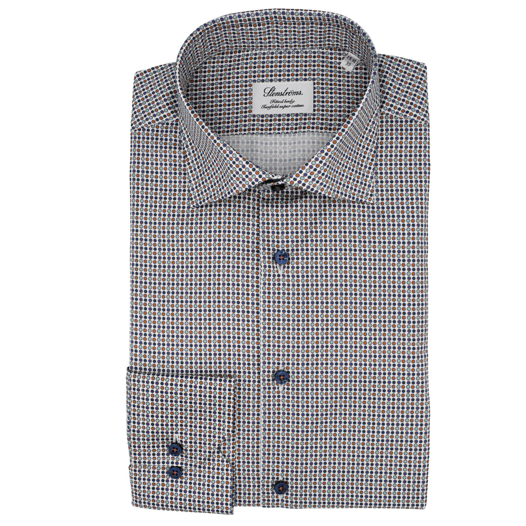 Dotted Fitted Body Shirt