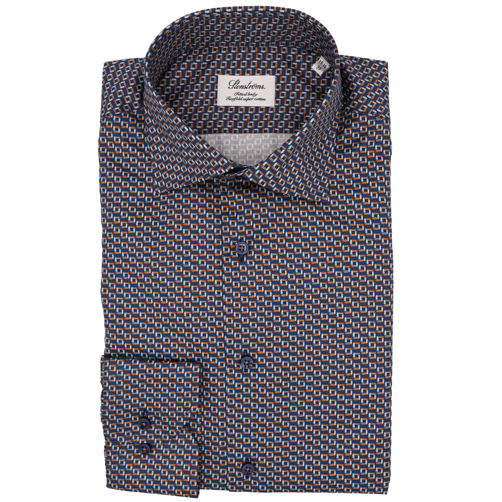 Micro Patterned Fitted Body Shirt