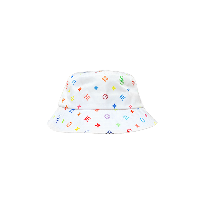 RAINBOW MONOGRAM BUCKET HAT