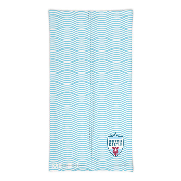 Edgewater Castle Sky-Blue Water Pattern Neck Gaiter