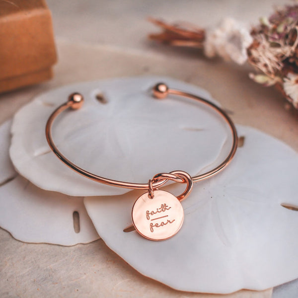 Faith Over Fear Bangle