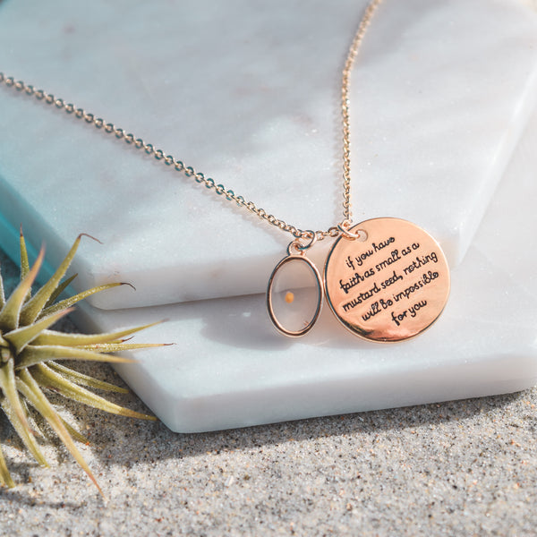 Matthew 17:20 Mustard Seed Necklace