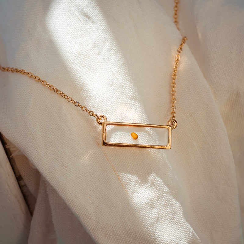 Mustard Seed of Faith - Bar Necklace