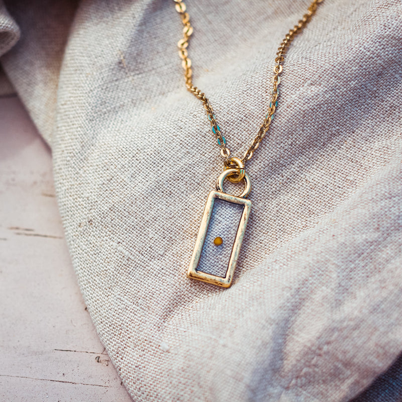Mustard Seed of Faith - Vintage Pendant Necklace