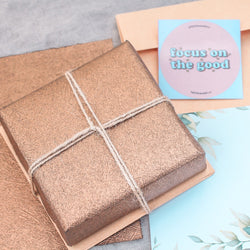 Rustic Gift wrapping + Handwritten note