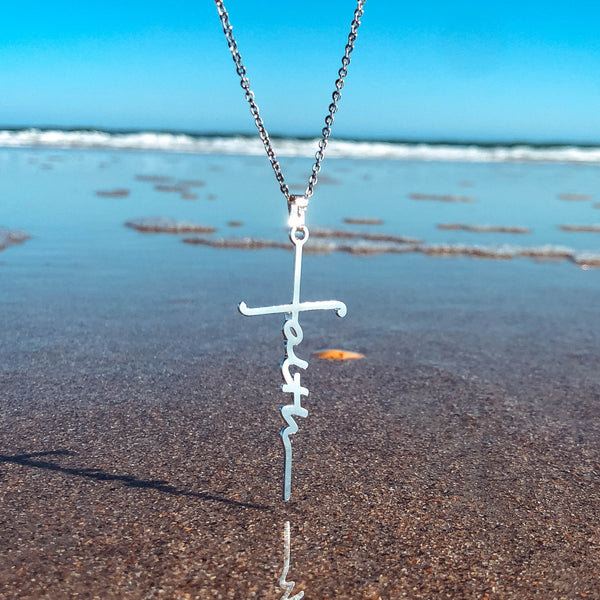 Faith Cross Prayer Necklace