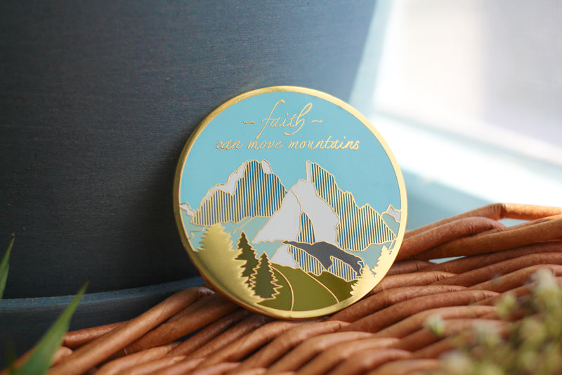 Move Mountains Enamel Pin
