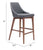 Jude Dark Gray Modern Counter Chair image 5