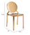 Measurements of the Gold Polished Stainless Steel Dining Chair