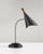 Brushed Steel/Black painted w. wood accent Gooseneck Desk Lamp on white background  image 1