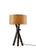Black Wood Table Lamp with a Cherry Wood Veneer Shade on a white background  image 1