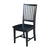 Black Finish Wood Dining Chair