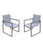 Isabella Outdoor Patio Dining Chair (Set of 2)