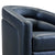 Contemporary Swivel Accent Chair in Genuine Leather image 6